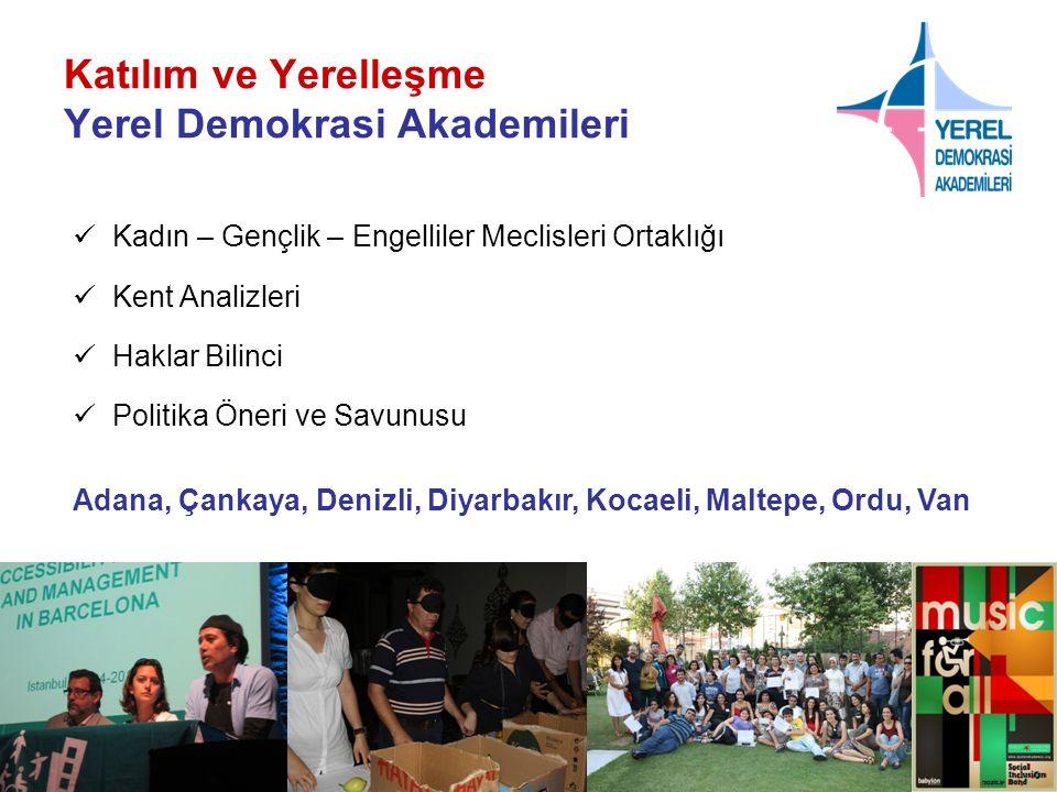 Katılım ve Yerelleşme Yerel Demokrasi Akademileri