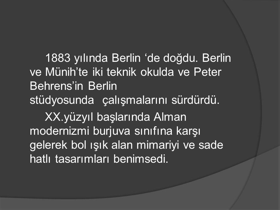 1883 yılında Berlin 'de doğdu