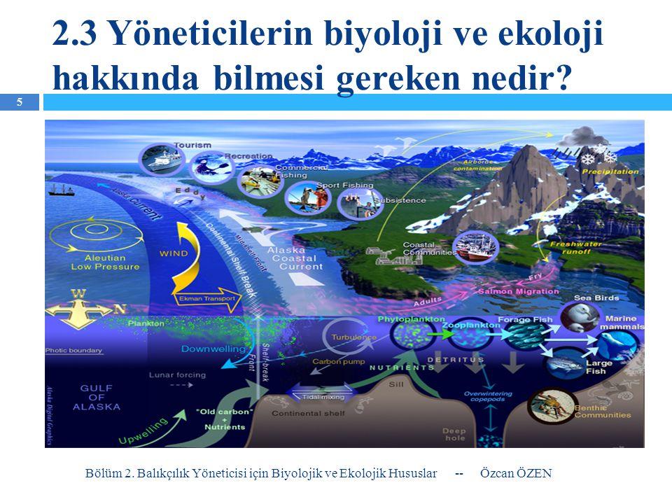 2.3 Yöneticilerin biyoloji ve ekoloji hakkında bilmesi gereken nedir