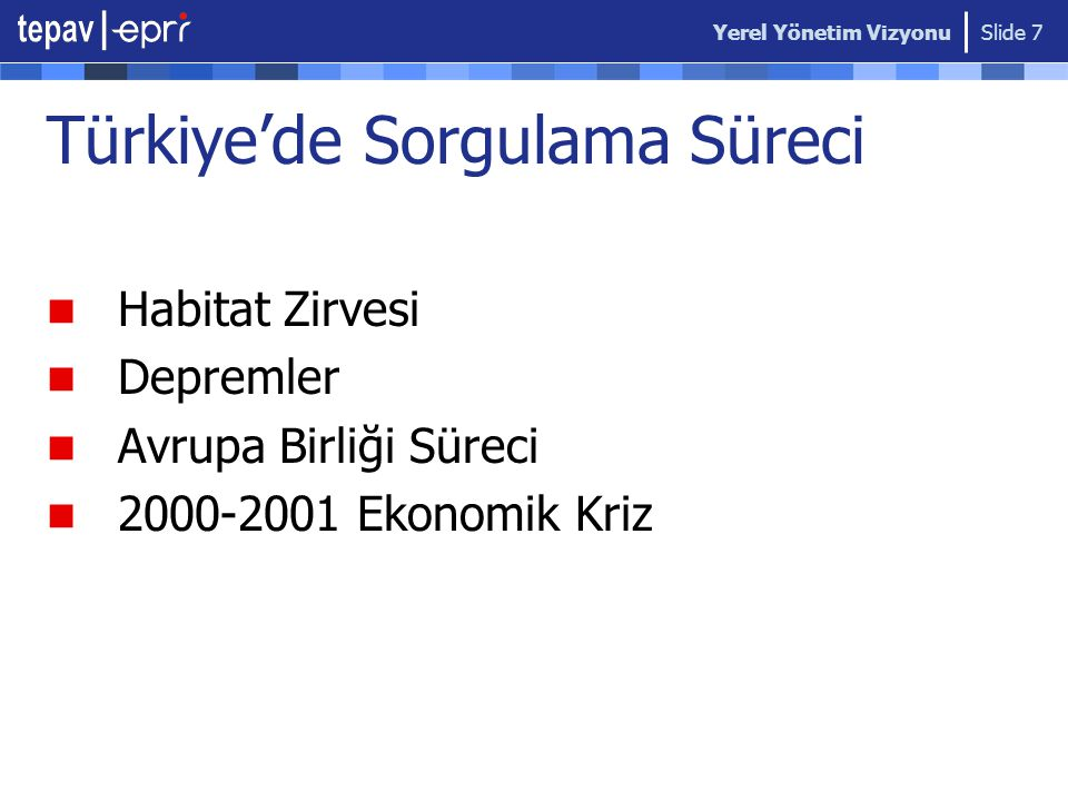 Türkiye'de Sorgulama Süreci