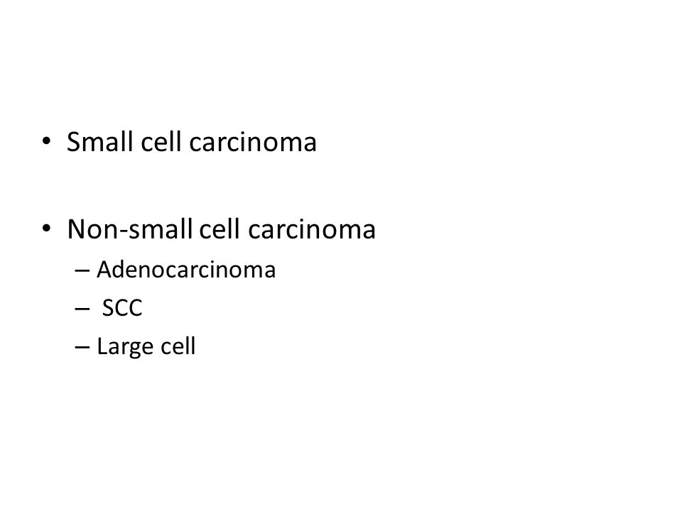 Non-small cell carcinoma