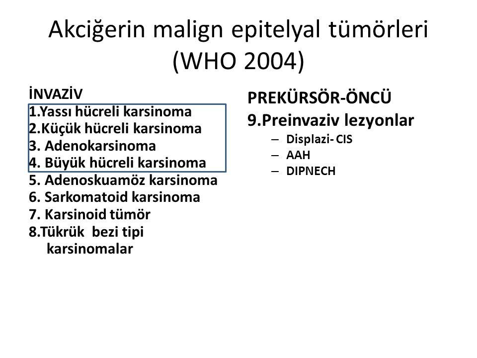Akciğerin malign epitelyal tümörleri (WHO 2004)