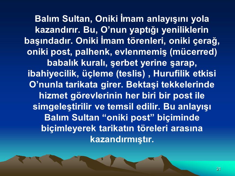 Balım Sultan, Oniki İmam anlayışını yola kazandırır