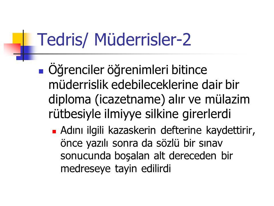 Tedris/ Müderrisler-2