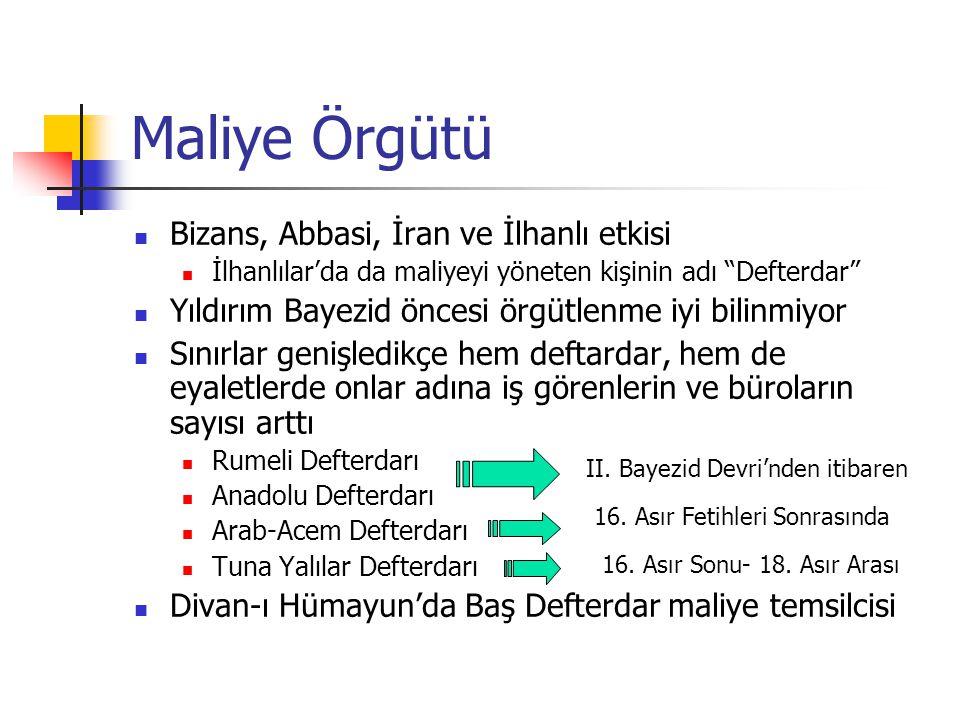 Maliye Örgütü Bizans, Abbasi, İran ve İlhanlı etkisi