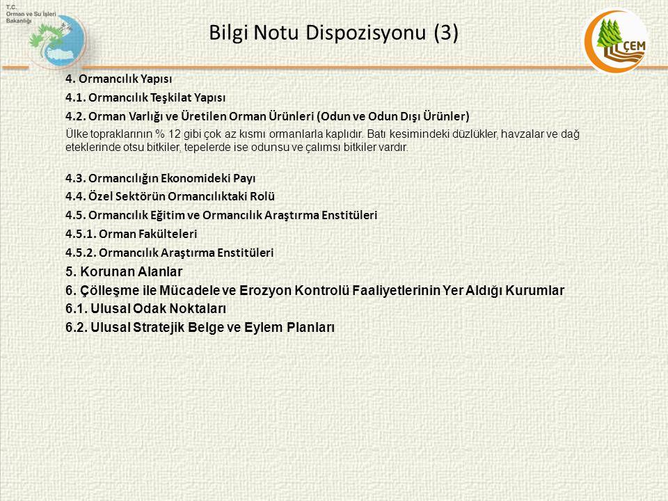 Bilgi Notu Dispozisyonu (3)