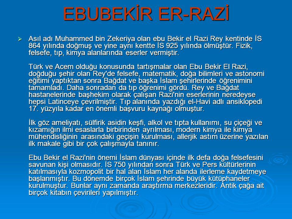 EBUBEKİR ER-RAZİ