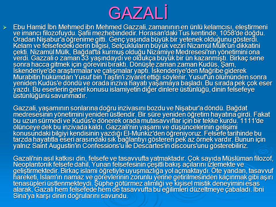 GAZALİ