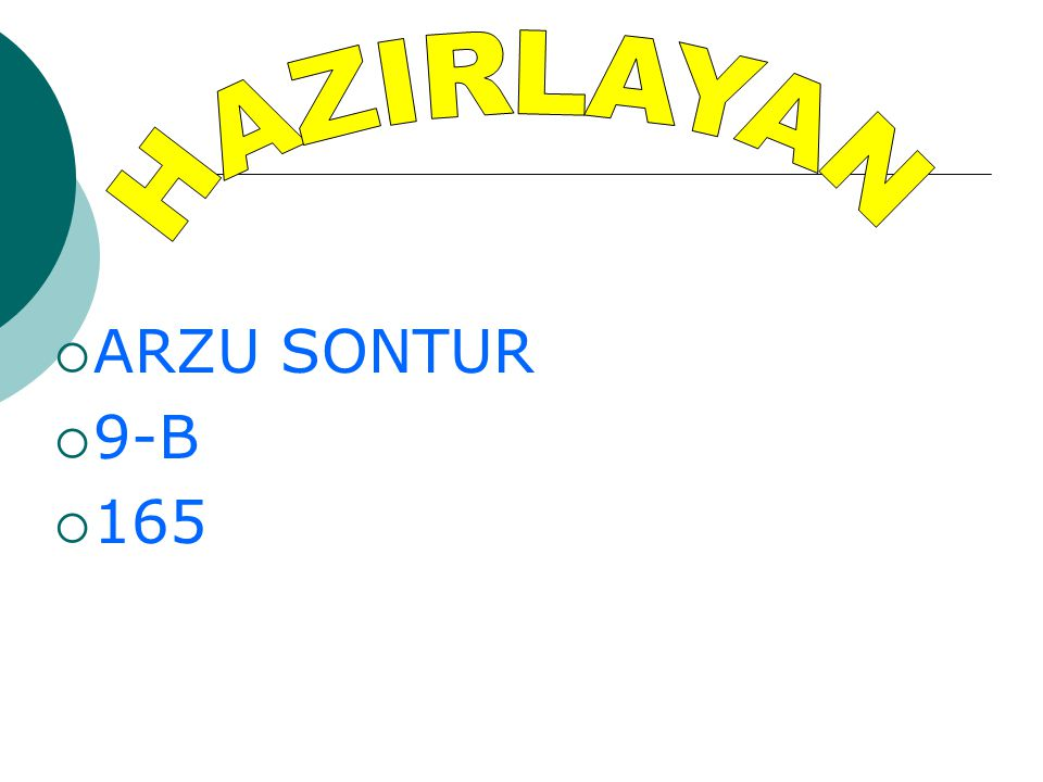 HAZIRLAYAN ARZU SONTUR 9-B 165