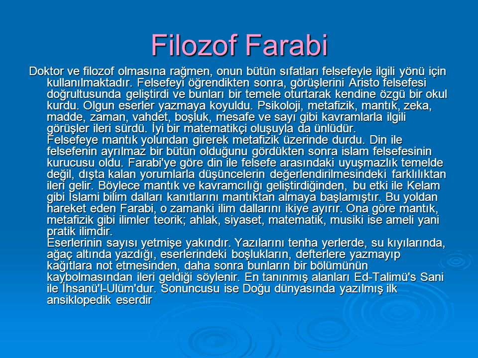 Filozof Farabi