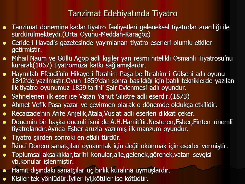 Tanzimat Edebiyatında Tiyatro