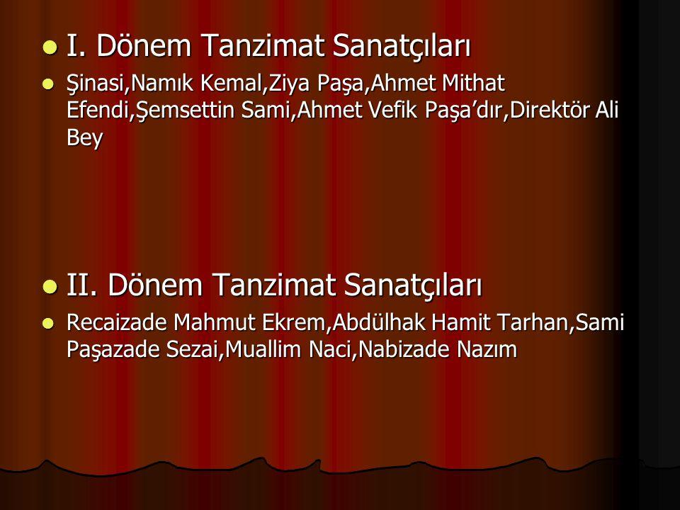 I. Dönem Tanzimat Sanatçıları