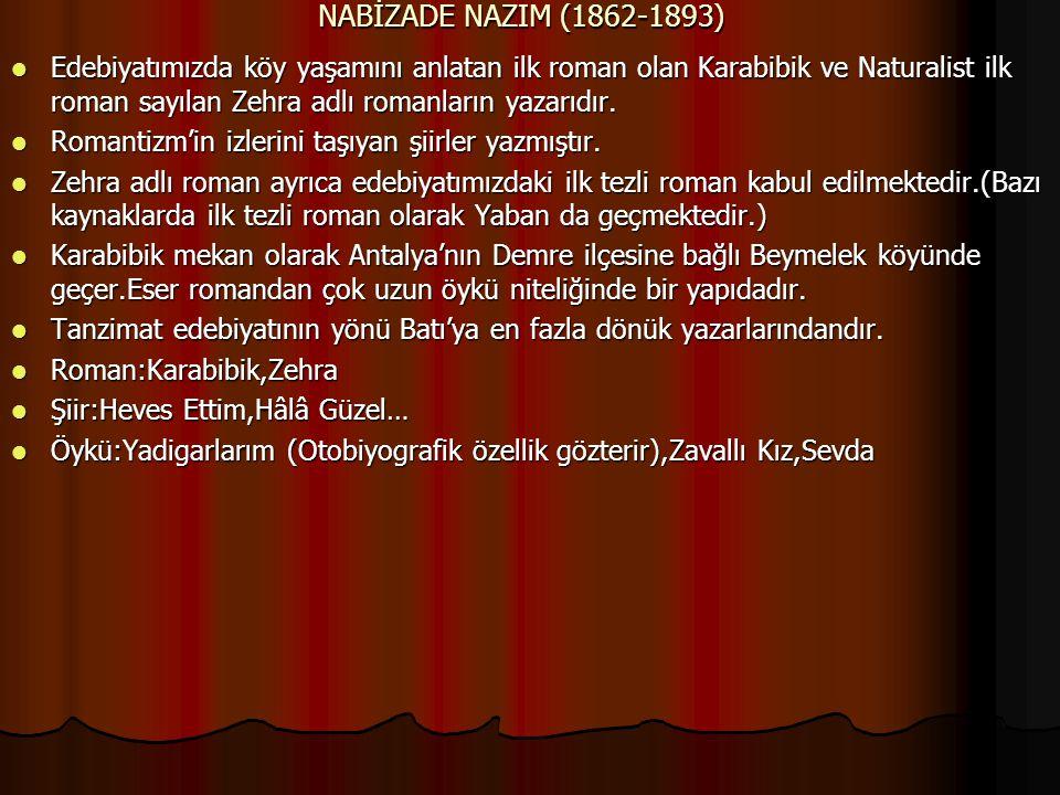 NABİZADE NAZIM (1862-1893)