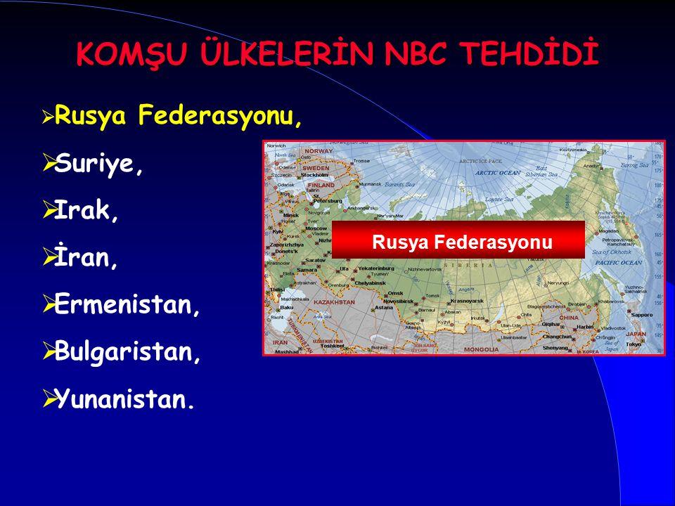 KOMŞU ÜLKELERİN NBC TEHDİDİ