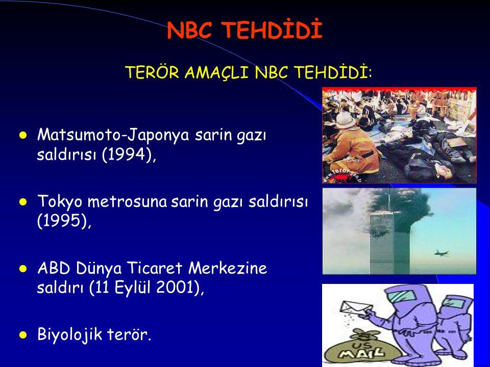TERÖR AMAÇLI NBC TEHDİDİ: