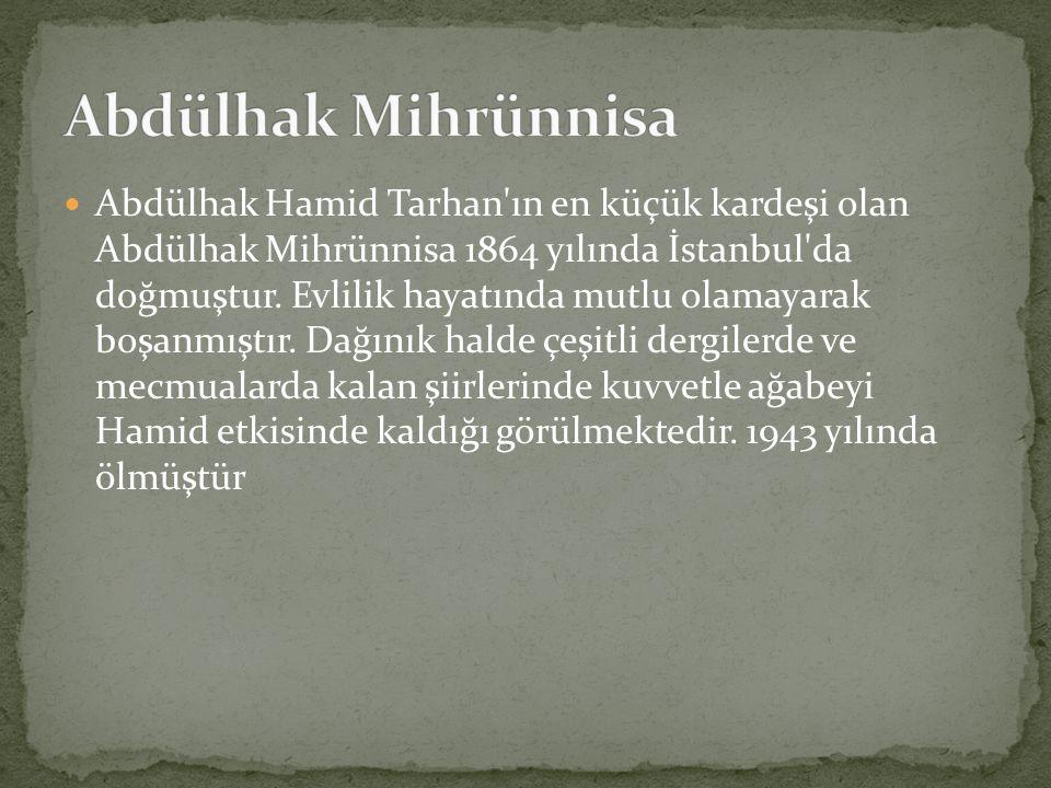 Abdülhak Mihrünnisa