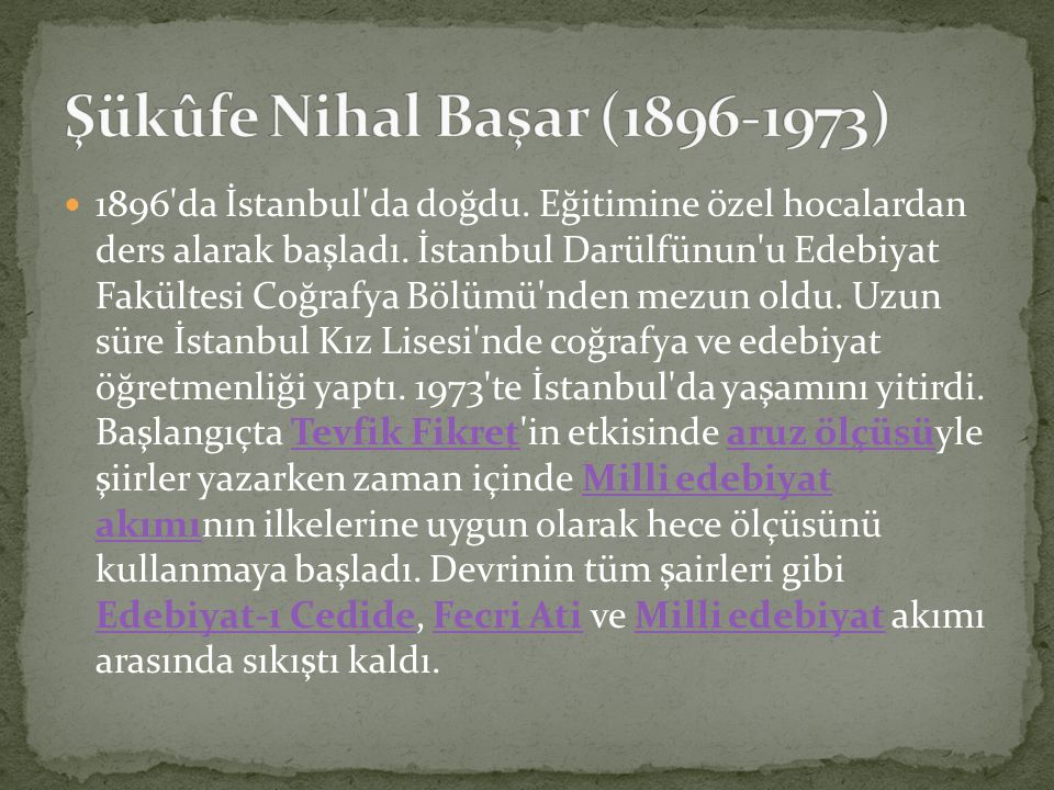 Şükûfe Nihal Başar (1896-1973)