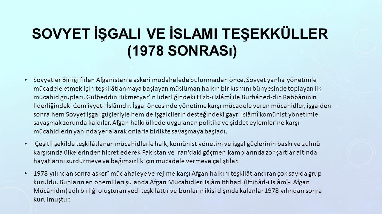 Sovyet İşgali ve İslami teşekküller (1978 sonrası)