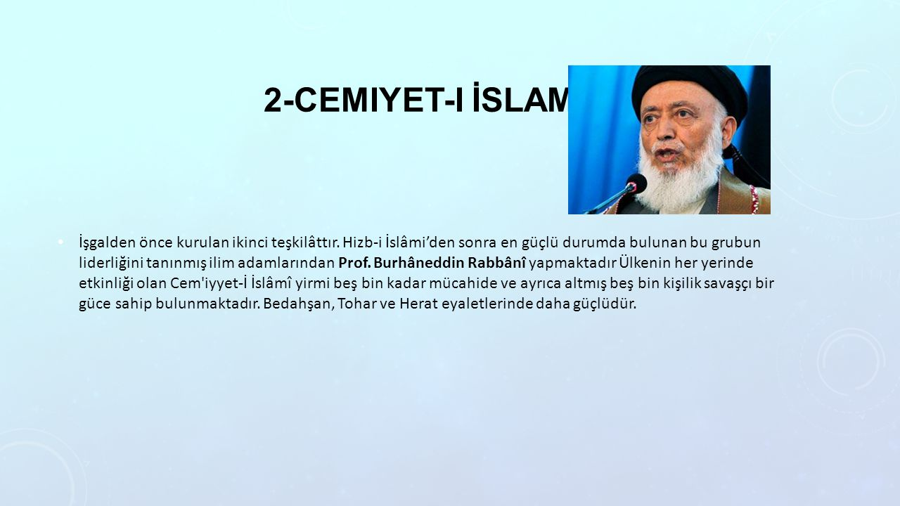 2-Cemiyet-i İslami
