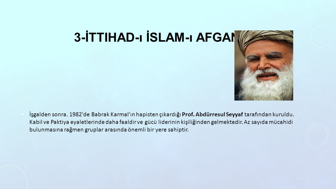 3-İttihad-ı İslam-ı Afganistan