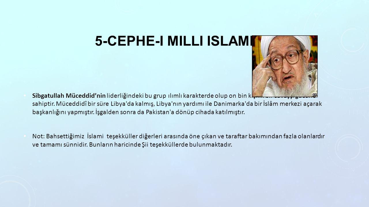 5-cephe-i milli islami