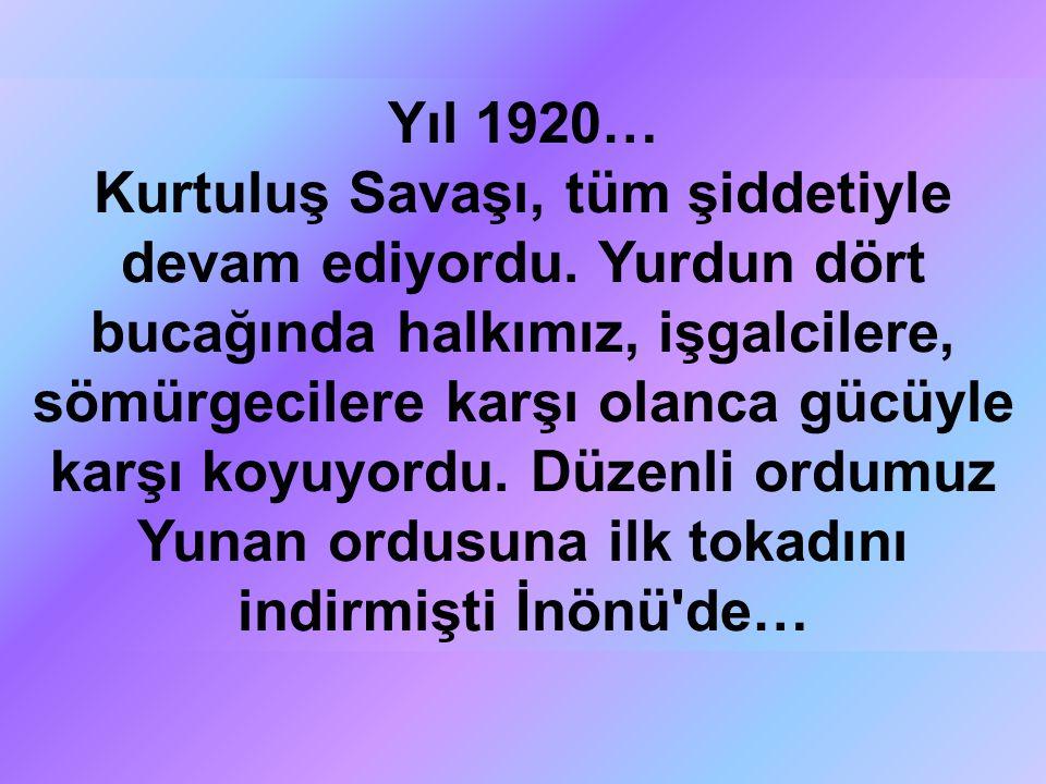Yıl 1920…