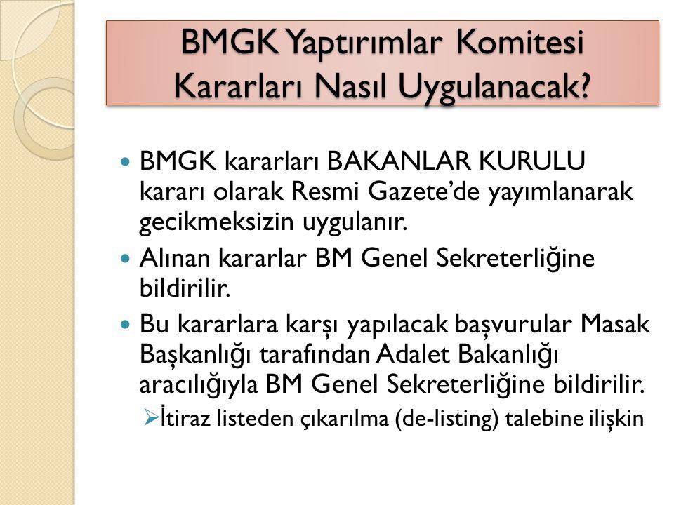 BMGK Yaptırımlar Komitesi Kararları Nasıl Uygulanacak