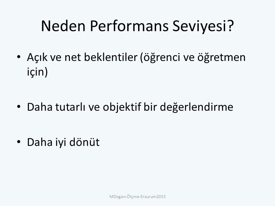 Neden Performans Seviyesi