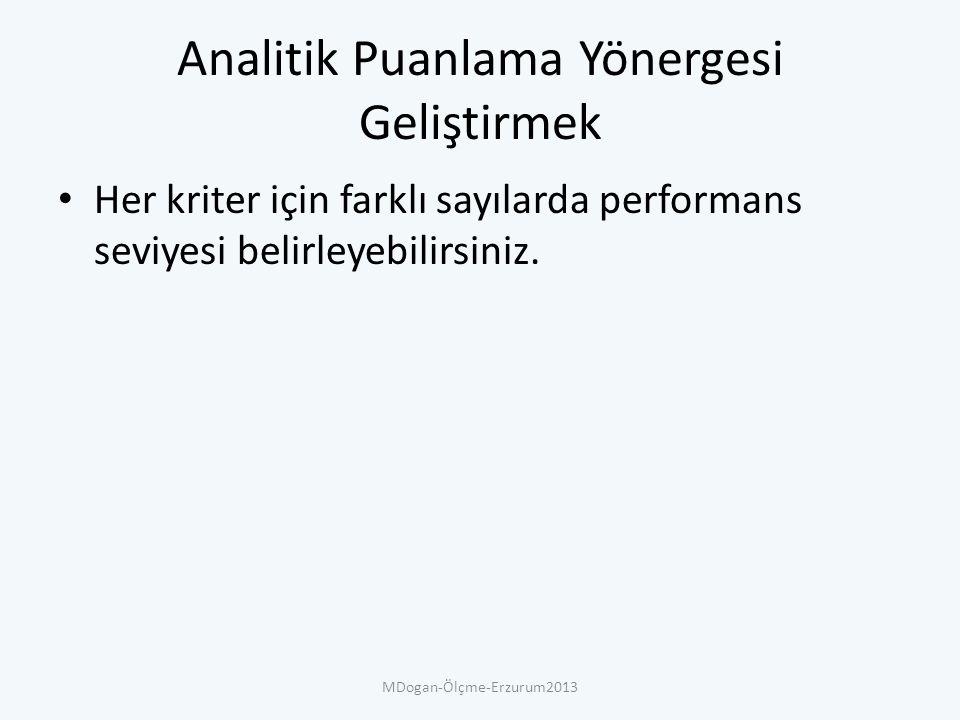 Analitik Puanlama Yönergesi Geliştirmek