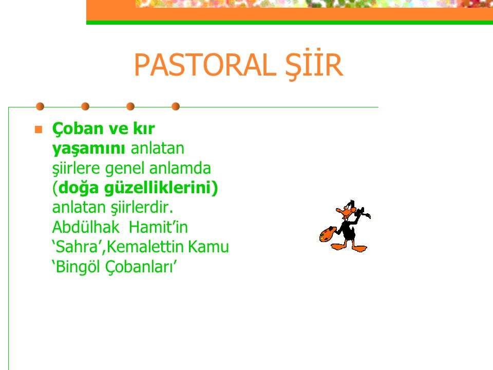 PASTORAL ŞİİR