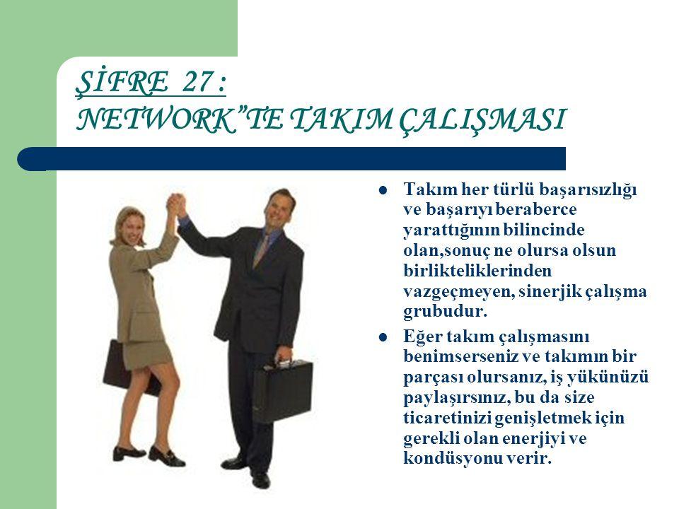 ŞİFRE 27 : NETWORK TE TAKIM ÇALIŞMASI