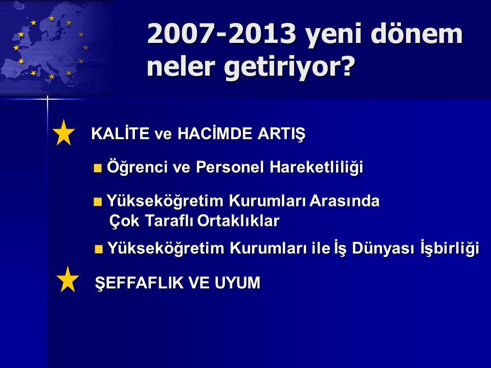 2007-2013 yeni dönem neler getiriyor