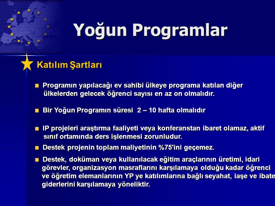 Yoğun Programlar Katılım Şartları