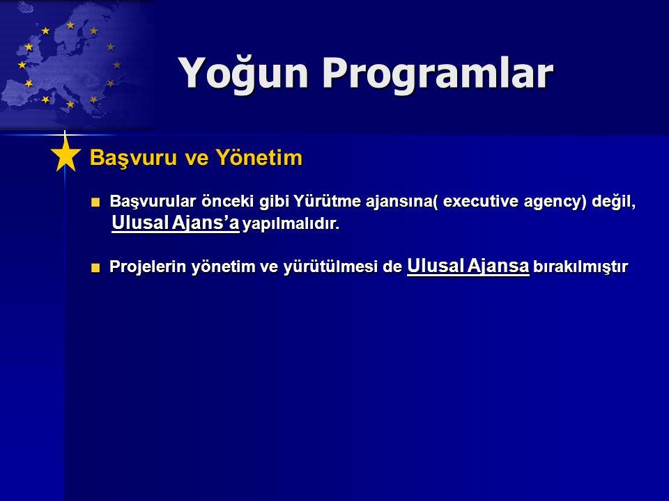Yoğun Programlar Başvuru ve Yönetim