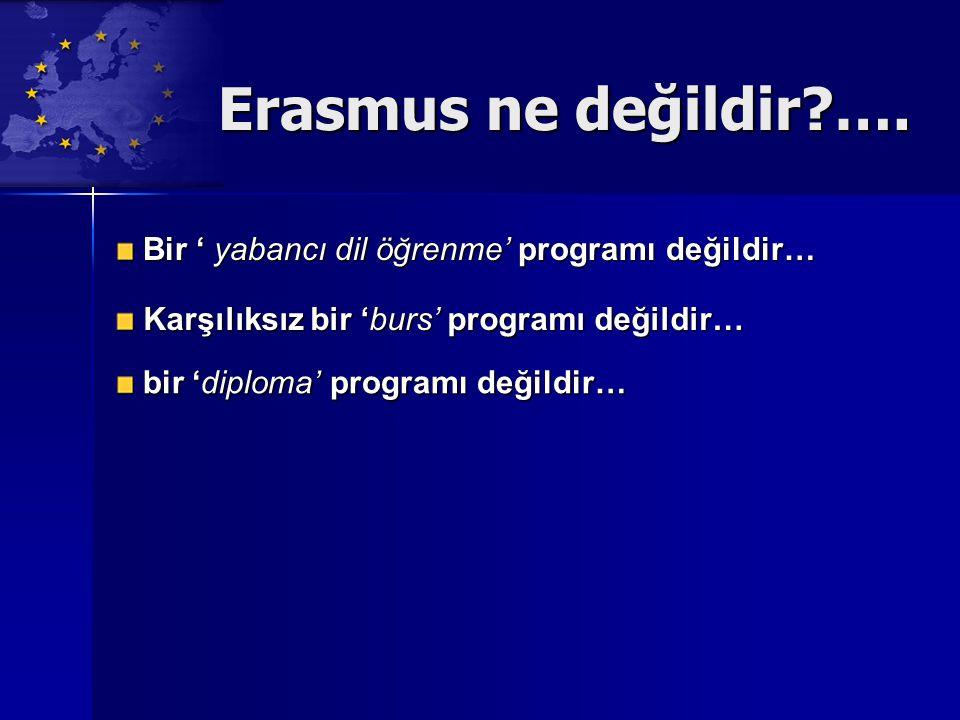 Erasmus ne değildir …. Bir ' yabancı dil öğrenme' programı değildir…