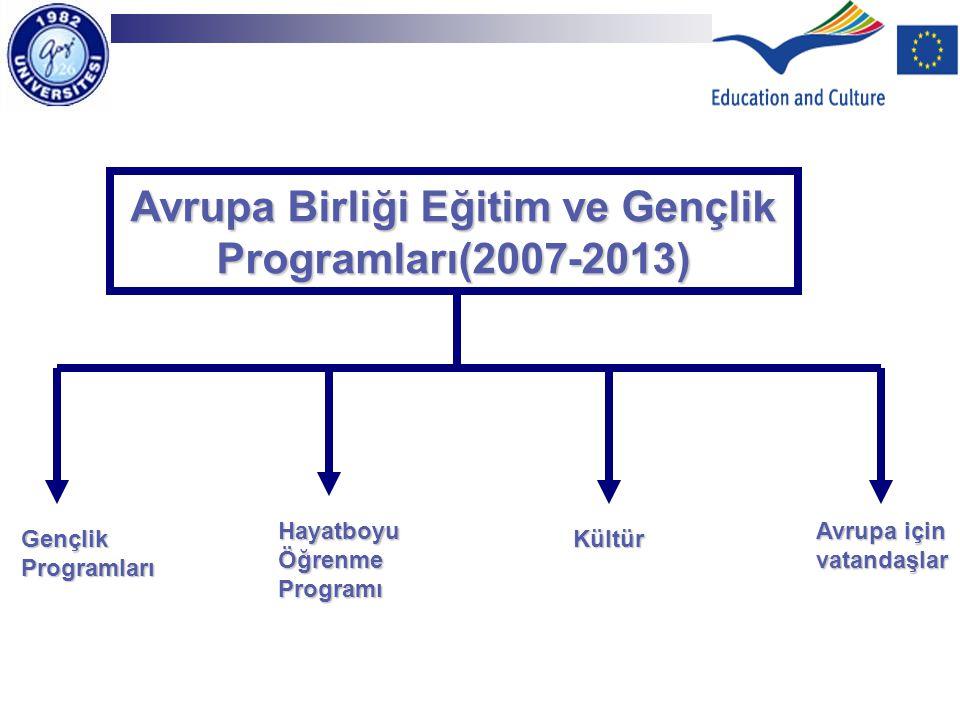 Avrupa Birliği Eğitim ve Gençlik Programları(2007-2013)