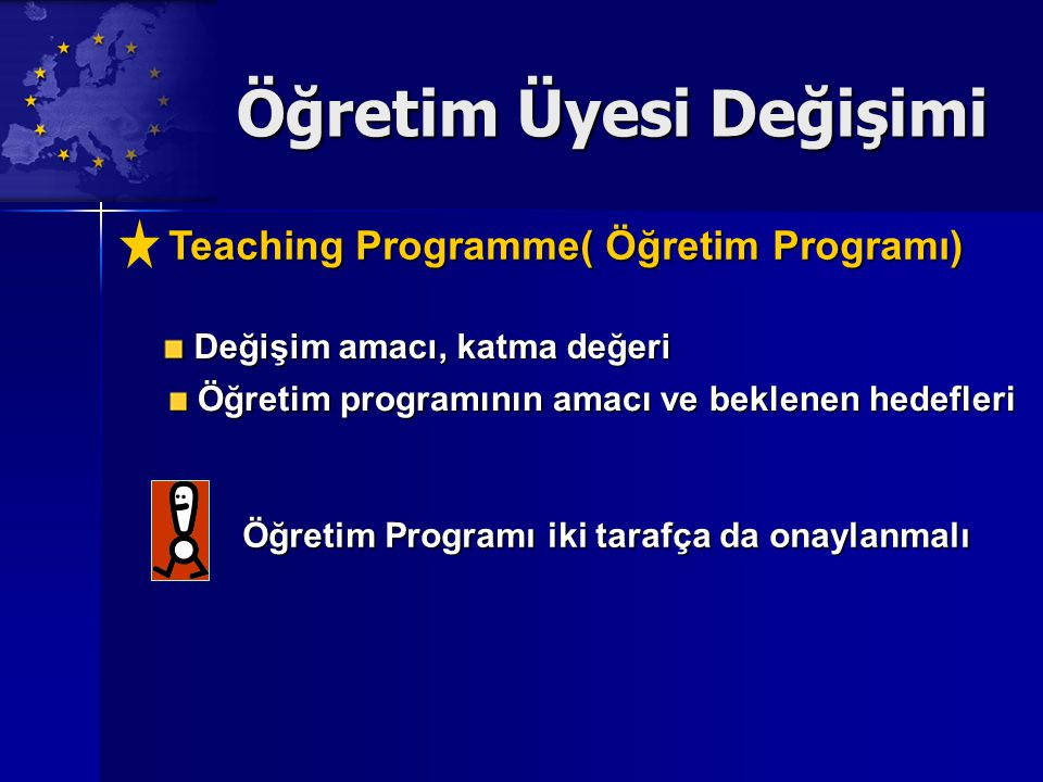 Öğretim Üyesi Değişimi