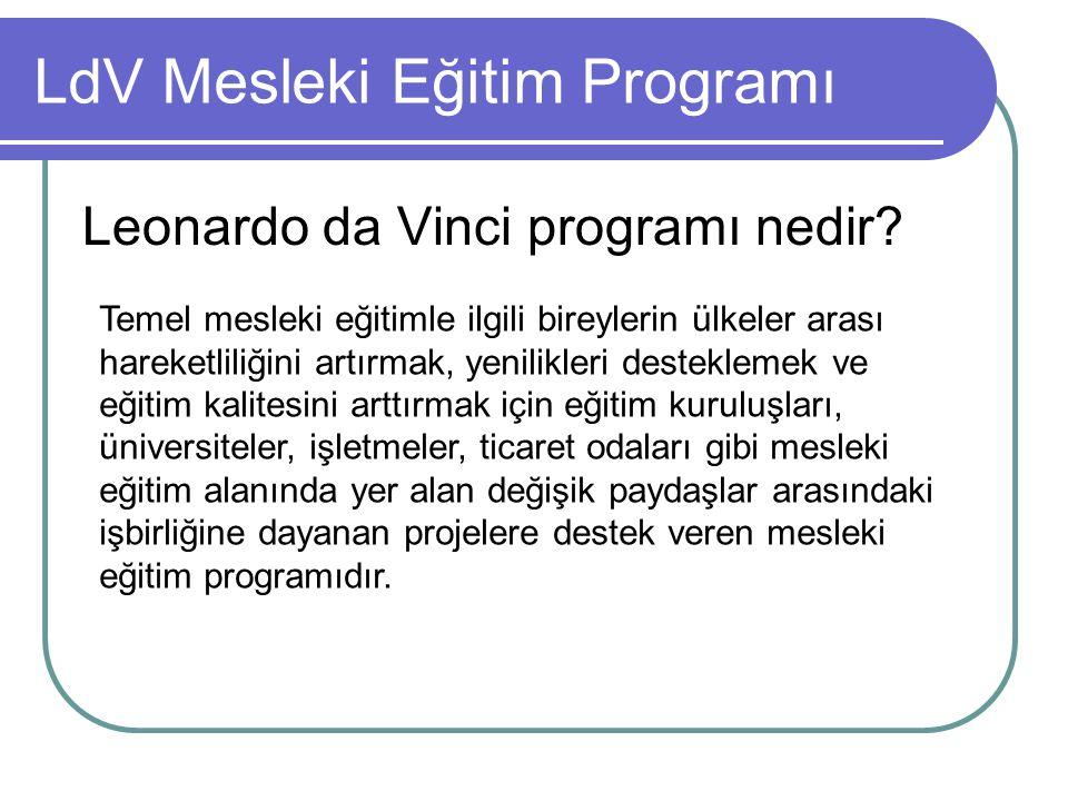 LdV Mesleki Eğitim Programı