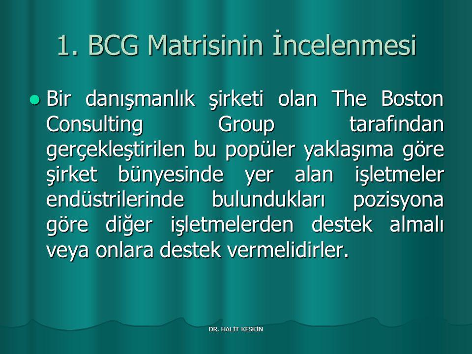 1. BCG Matrisinin İncelenmesi