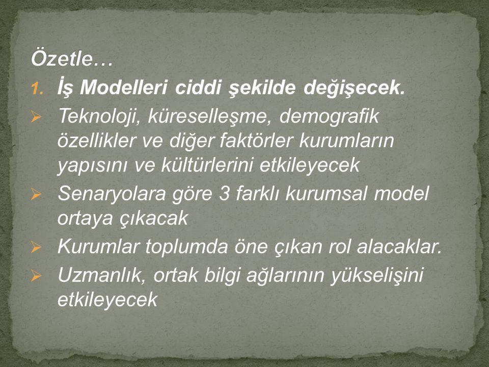 Özetle… İş Modelleri ciddi şekilde değişecek.