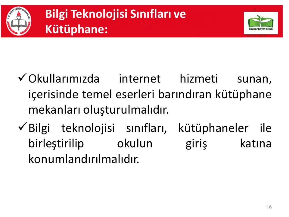Bilgi Teknolojisi Sınıfları ve Kütüphane: