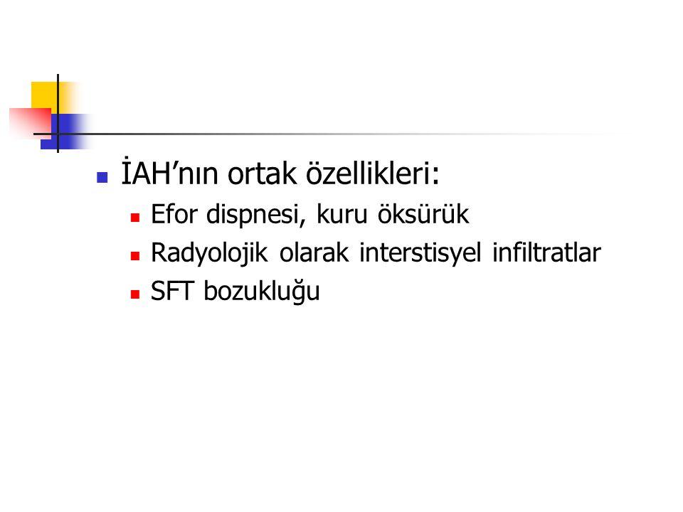 İAH'nın ortak özellikleri: