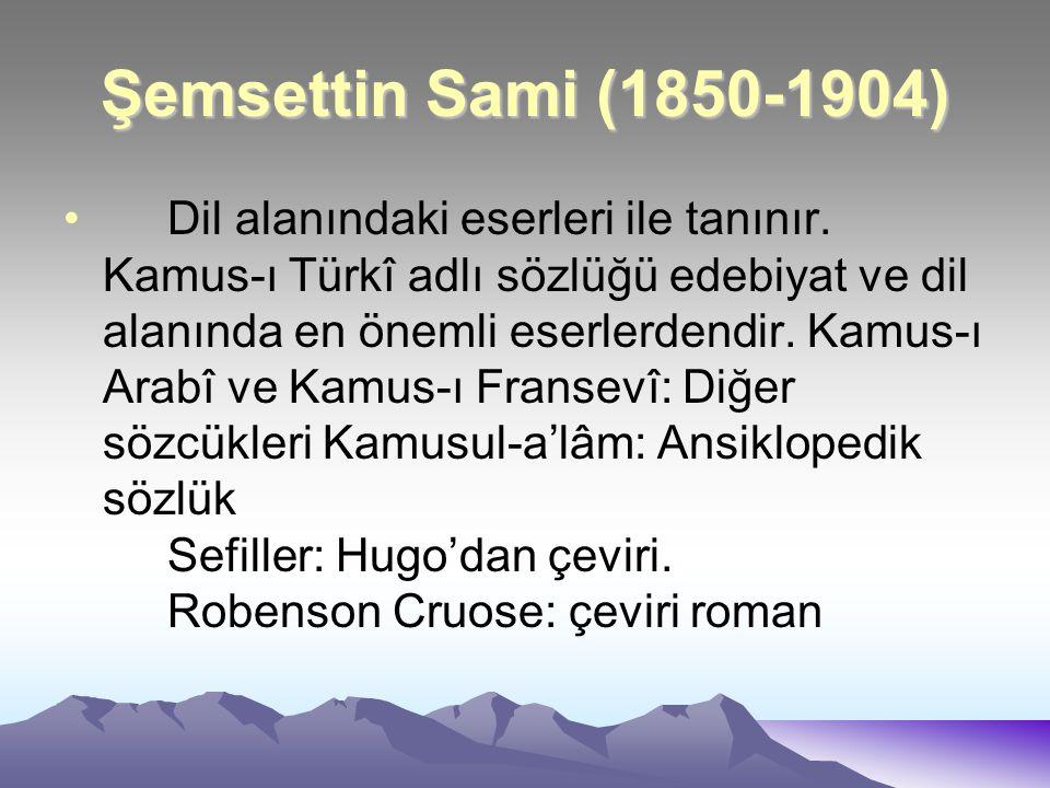 Şemsettin Sami (1850-1904)