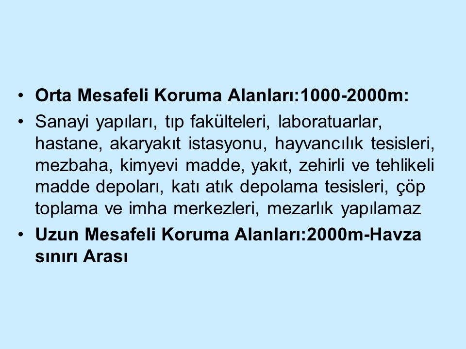 Orta Mesafeli Koruma Alanları:1000-2000m: