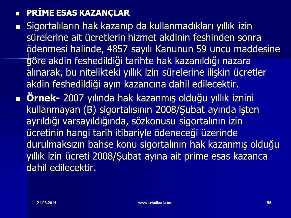 PRİME ESAS KAZANÇLAR