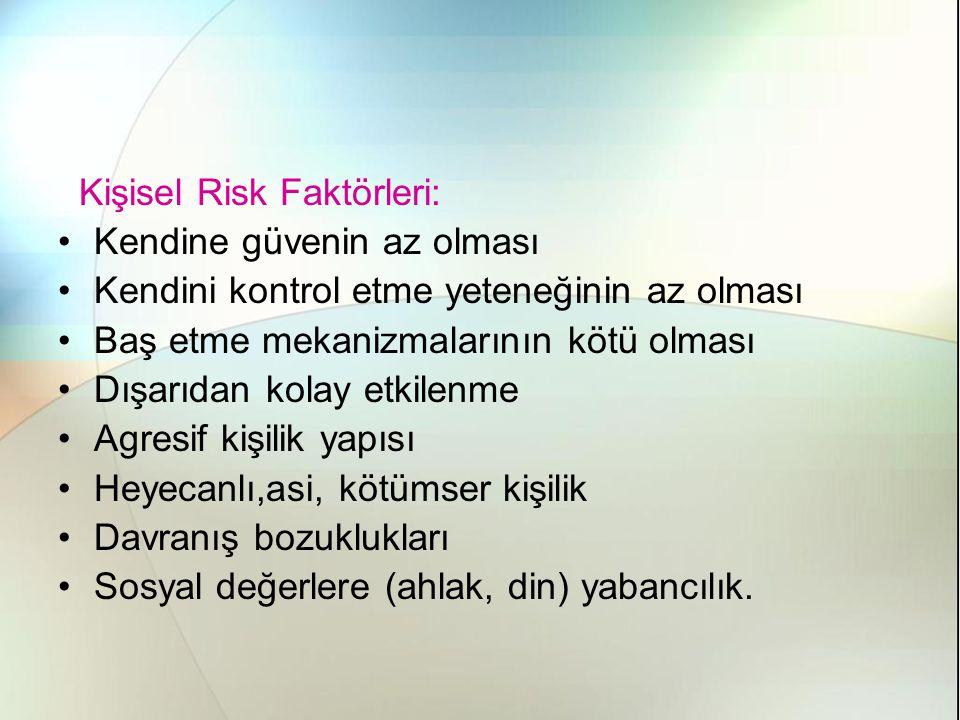 Kişisel Risk Faktörleri:
