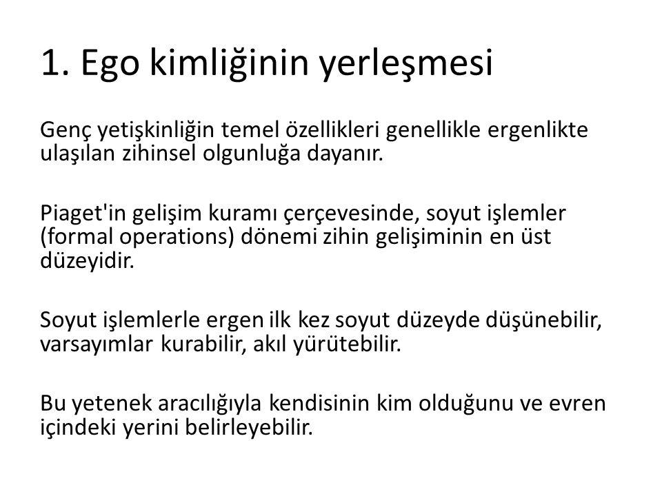 1. Ego kimliğinin yerleşmesi