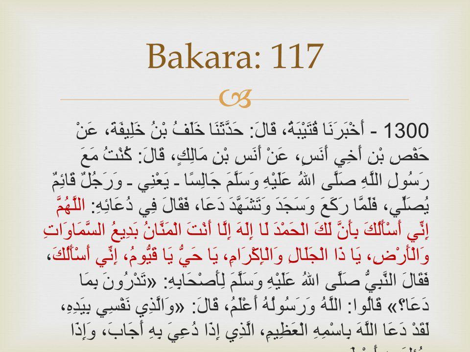 Bakara: 117