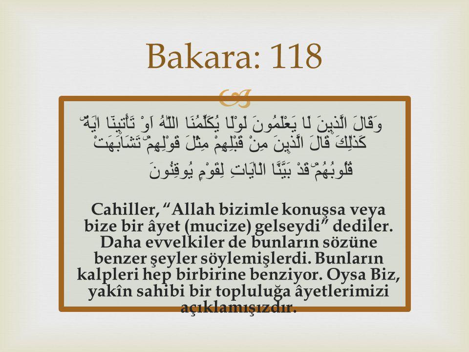 Bakara: 118
