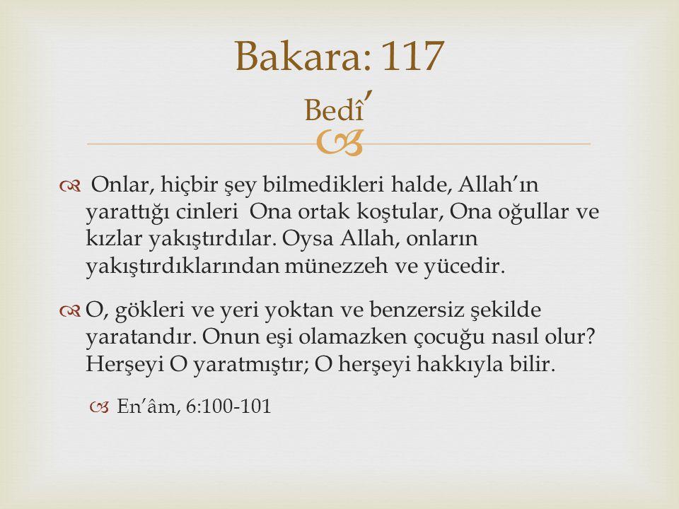 Bakara: 117 Bedî'